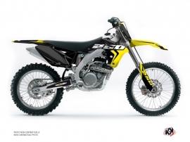 Kit Déco Moto Cross Halftone Suzuki 250 RMZ Noir Jaune