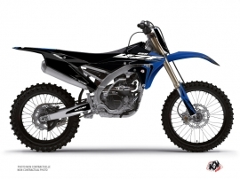 Yamaha 250 YZF Dirt Bike Halftone Graphic Kit Black Blue