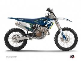 Kit Déco Moto Cross Halftone Husqvarna 450 FC Blanc Bleu