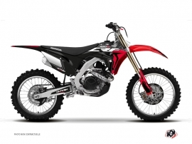 Honda 450 CRF Dirt Bike Halftone Graphic Kit Black Red