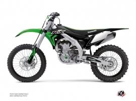 Kit Déco Moto Cross Halftone Kawasaki 450 KXF Noir Vert