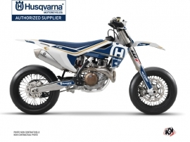 Husqvarna 450 FS Dirt Bike Heritage Graphic Kit White