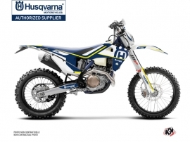 Kit Déco Moto Cross Heritage Husqvarna 250 FE Bleu Blanc