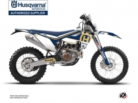 Husqvarna 450 FE Dirt Bike Heritage Graphic Kit Blue