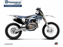 Kit Déco Moto Cross Heritage Husqvarna TC 125 Blanc Gris