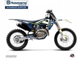 Kit Déco Moto Cross Heritage Husqvarna TC 125 Bleu Blanc