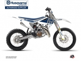 Husqvarna TC 85 Dirt Bike Heritage Graphic Kit White Grey
