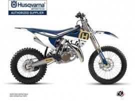 Kit Déco Moto Cross Heritage Husqvarna TC 85 Bleu