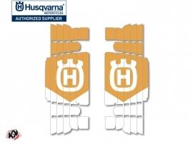 Kit Déco Grilles de radiateur Heritage Husqvarna TE-FE 2017-2018 Blanc