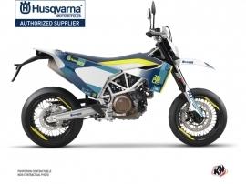 Kit Déco Moto Hero Husqvarna 701 Supermoto Bleu Jaune