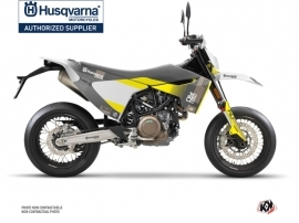 Husqvarna 701 Supermoto Dirt Bike Hero Graphic Kit Grey Yellow