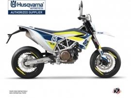 Husqvarna 701 Supermoto Street Bike Heyday Graphic Kit Blue Yellow