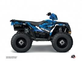 Polaris 450 Sportsman ATV Hidden Graphic Kit Blue White