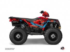 Polaris 570 Sportsman Forest ATV Hidden Graphic Kit Red Blue