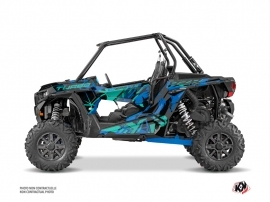 Polaris RZR 1000 Turbo UTV Jaw Graphic Kit Blue