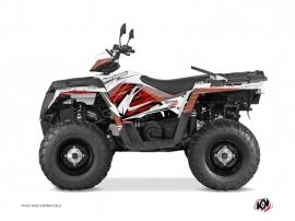 Polaris 570 Sportsman Touring ATV Jungle Graphic Kit Red