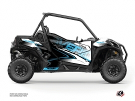 Can Am Maverick Trail With Doors UTV Kallin Graphic Kit White Blue