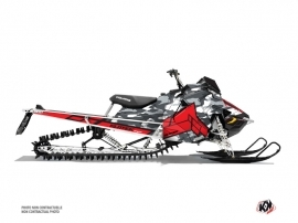 Polaris Axys Snowmobile Kamo Graphic Kit Grey Red