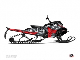 Skidoo Gen 4 Snowmobile Kamo Graphic Kit Grey Red
