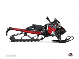 Skidoo REV XM Snowmobile Kamo Graphic Kit Grey Red