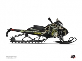 Skidoo REV XM Snowmobile Kamo Graphic Kit Green Yellow