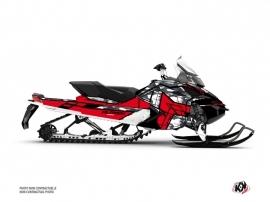 Skidoo REV XP Snowmobile Kamo Graphic Kit Grey Red