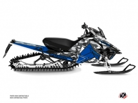 Yamaha SR Viper Snowmobile Kamo Graphic Kit Grey Blue