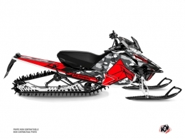 Yamaha SR Viper Snowmobile Kamo Graphic Kit Grey Red