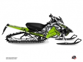 Yamaha SR Viper Snowmobile Kamo Graphic Kit Grey Green