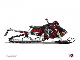 Polaris Axys Snowmobile Keen Graphic Kit Grey Red