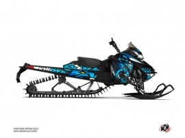 Skidoo REV XM Snowmobile Keen Graphic Kit Blue