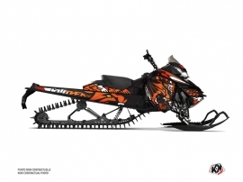Skidoo REV XM Snowmobile Keen Graphic Kit Orange