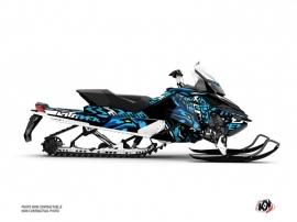 Kit Déco Motoneige Keen Skidoo REV XP Bleu