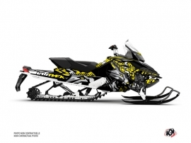 Skidoo REV XP Snowmobile Keen Graphic Kit Grey Yellow