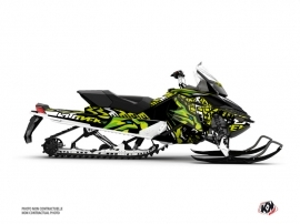 Skidoo REV XP Snowmobile Keen Graphic Kit Green