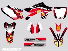 Kit Déco Moto Cross Kenny Yamaha 250 YZF Rouge