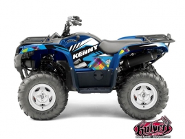 Yamaha 550-700 Grizzly ATV Kenny Graphic Kit Blue