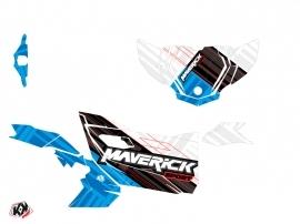 Kit Déco SSV Kinetik Can Am Maverick Sport Avec Portes Blanc Bleu