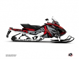 Kit Déco Motoneige Klimb Skidoo REV XP Rouge