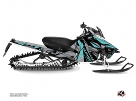 Yamaha SR Viper Snowmobile Klimb Graphic Kit Cyan