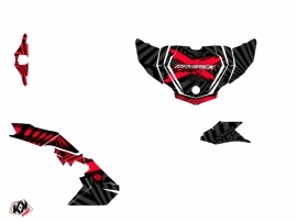 Can Am Maverick Sport UTV Kollector Graphic Kit Black Red