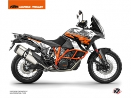 KTM 1290 Super Adventure R Street Bike Kombat Graphic Kit Grey Orange