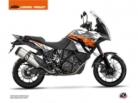 KTM 1290 Super Adventure S Street Bike Kombat Graphic Kit Grey Orange