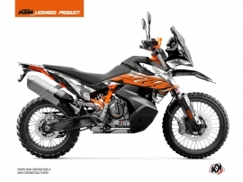 KTM 790 Adventure R Street Bike Kombat Graphic Kit Grey Orange