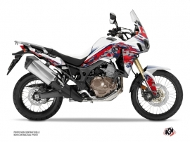 Honda Africa Twin CRF 1000 L Street Bike kommando Graphic Kit Red Blue