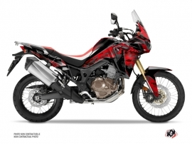 Honda Africa Twin CRF 1000 L Street Bike kommando Graphic Kit Red Black