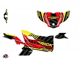Can Am Maverick Sport With Doors UTV Konkeror Graphic Kit Red Yellow