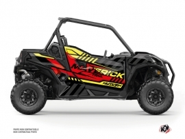 Can Am Maverick Trail With Doors UTV Konkeror Graphic Kit Red Yellow