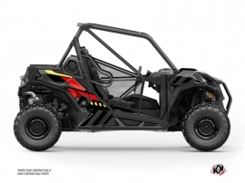 Can Am Maverick Trail UTV Konkeror Graphic Kit Red Yellow