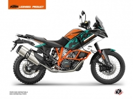 Kit Déco Moto Kontrol KTM 1190 Adventure R Orange Blanc
